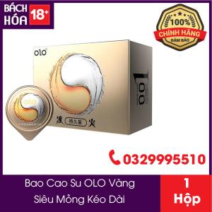 Bao Cao Su OLO 001 Vàng Siêu Mỏng Nhiều Gel Hộp 10 Chiếc